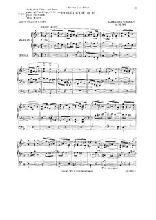 L'organiste pratique (The Practical Organist): Book III. Postlude in F Major, Op.46 No.2 by Alexandre Guilmant