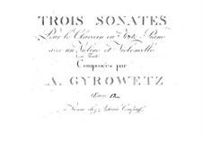 Three Sonatas for Piano Trio, Op.12: Three Sonatas for Piano Trio by Adalbert Gyrowetz