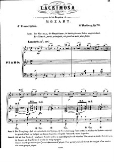 Lacrimosa from 'Requiem' and Duo from 'The Marriage of Figaro', K.626, 492: Lacrimosa from 'Requiem' and Duo from 'The Marriage of Figaro' by Wolfgang Amadeus Mozart