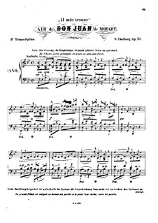 Il mio tesoro: Arrangement for piano by Wolfgang Amadeus Mozart