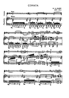 Twelve Sonatas for Violin and Basso Continuo, Op.5: Sonata No.6 for violin and piano by Jean-Marie Leclair