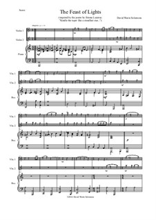The Feast of Lights: For two violins and piano by David W Solomons