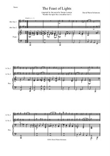 The Feast of Lights: For two alto saxophones and piano by David W Solomons