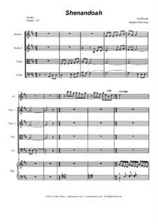 Shenandoah: For string quartet by folklore