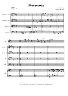 Shenandoah: For brass quartet by folklore