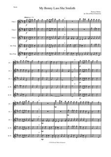 My Bonny Lass She Smileth: For flute quintet by Thomas Morley