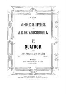 String Quartet No.1 in D Major: Violin I part by Auguste-Emmanuel Vaucorbeil