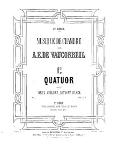 String Quartet No.1 in D Major: Viola part by Auguste-Emmanuel Vaucorbeil