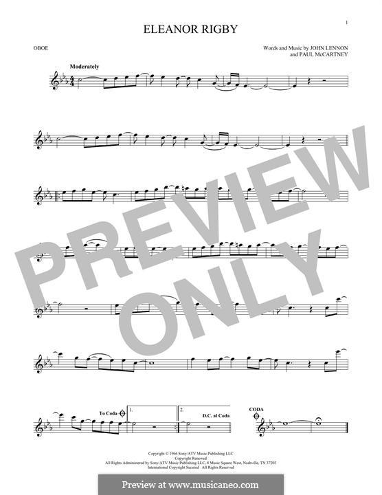 Eleanor Rigby (The Beatles): For oboe by John Lennon, Paul McCartney