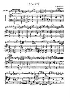 Sonata for Violin and Basso Continuo in G Major: Arrangement for violin and piano by Nicola Porpora