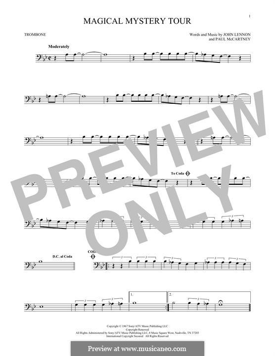 Magical Mystery Tour (The Beatles): For trombone by John Lennon, Paul McCartney