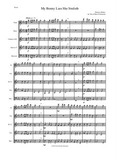 My Bonny Lass She Smileth: For wind quintet by Thomas Morley