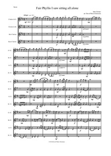 Fair Phyllis I Saw: For clarinet quartet (E flat, B flat, alto and bass) by John Farmer