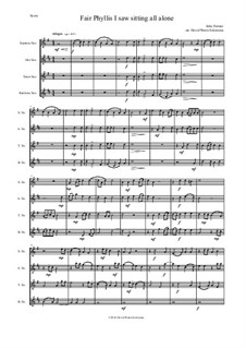 Fair Phyllis I Saw: For saxophone quartet (SATB) by John Farmer