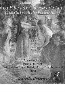 No.8 La fille aux cheveux de lin: For brass quintet by Claude Debussy