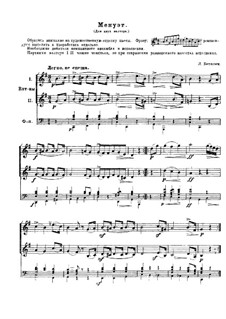 Minuet in G Major: For two french horns and piano by Ludwig van Beethoven