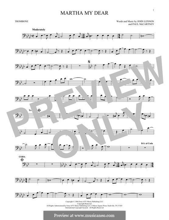 Martha My Dear (The Beatles): For trombone by John Lennon, Paul McCartney