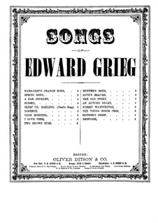 Hjertets Melodier (Melodies of the Heart), Op.5: No.1 To brune Øjne (Two Brown Eyes) by Edvard Grieg