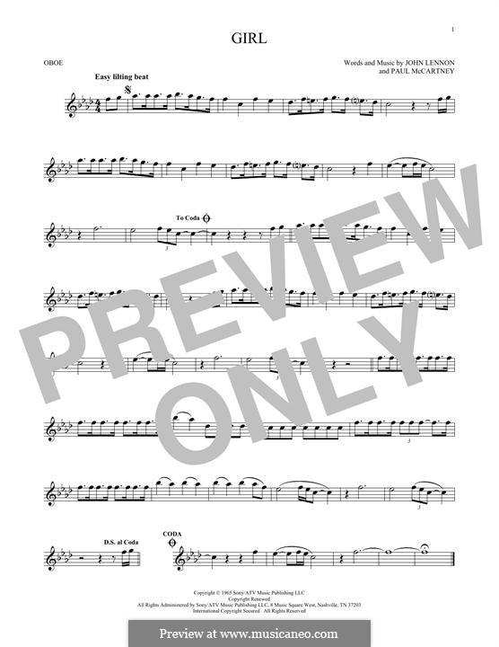 Girl (The Beatles): For oboe by John Lennon, Paul McCartney