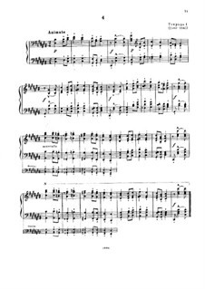 Magyar Dalok (Hungarian National Melodies), S.242: No.4 in C Sharp Major by Franz Liszt