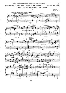 Magyar Dalok (Hungarian National Melodies), S.242: No.7 in E Flat Major by Franz Liszt