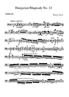 No.12 in C Sharp Minor, for Orchestra, S.359/4: Cello part by Franz Liszt