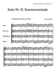 Suite Nr.2: 4 Menuett + Trio by Bernhard Bauch
