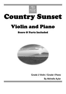 Country Sunset (Beginner Piano Accompaniment): Country Sunset (Beginner Piano Accompaniment) by MEA Music