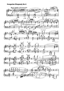 No.4 in E Flat Major, S.244: For piano by Franz Liszt