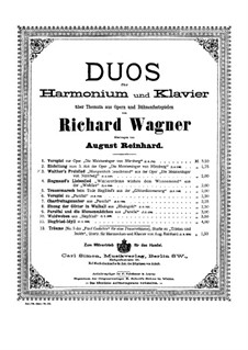Walter's Prize Song: For harmonium and piano by Richard Wagner