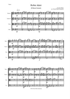 Robin Adair: For string quartet by Carroll O'Daly