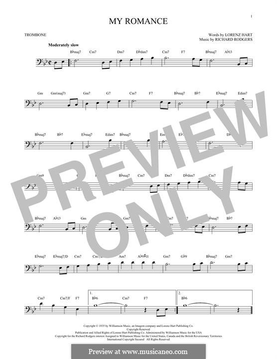 My Romance: For trombone by Richard Rodgers