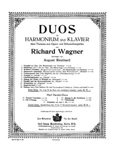 Entrance into the Castle of the Holy Grail: For harmonium and piano by Richard Wagner