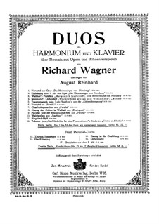 Titurel's Funeral: For harmonium and piano by Richard Wagner