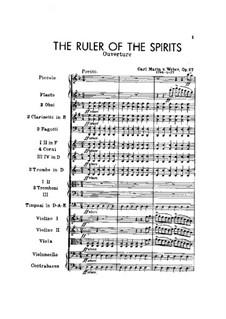 Der Beherrscher der Geister (The Ruler of the Spirits), J.122 Op.27: Full score by Carl Maria von Weber
