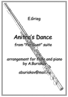 Suite No.1. Anitra's Dance, Op.46 No.3: For flute and piano by Edvard Grieg