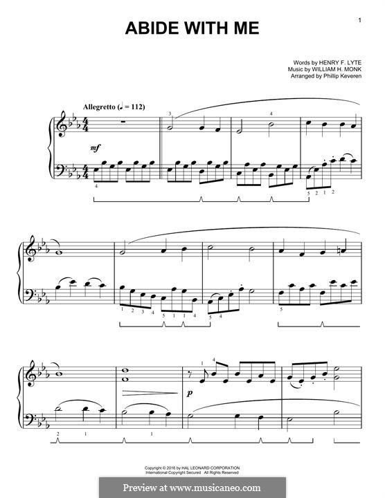 Abide with Me: For piano by William Henry Monk