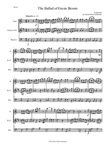 The Ballad of Green Broom: For wind trio - flute, clarinet, bassoon by folklore, David W Solomons
