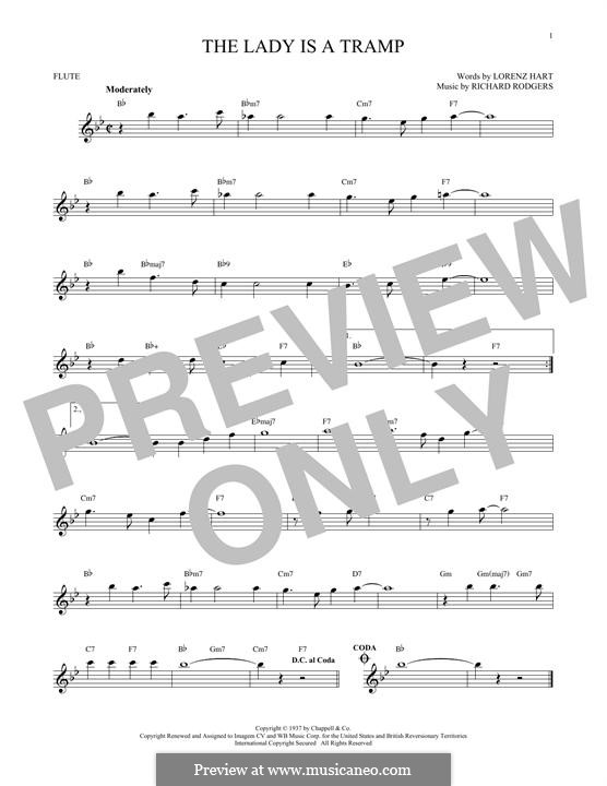 The Lady is a Tramp (Frank Sinatra): For flute by Richard Rodgers