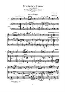 Movement III: Arrangement for flute and piano by Wolfgang Amadeus Mozart