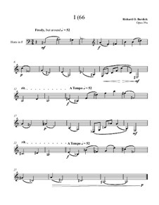 I (66 for solo horn, Op.39a: I (66 for solo horn by Richard Burdick