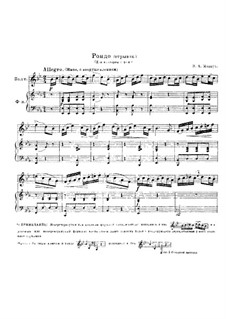 Rondo for Horn and Piano: Fragment by Wolfgang Amadeus Mozart