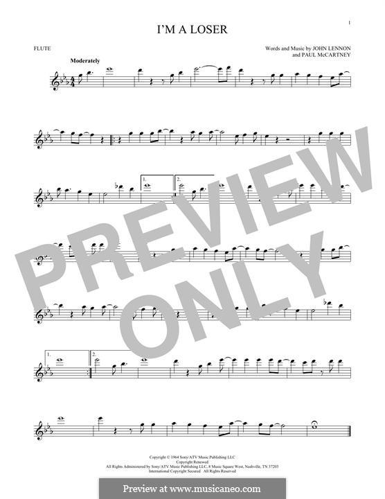 I'm a Loser (The Beatles): For flute by John Lennon, Paul McCartney