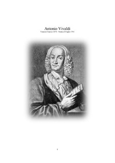 The most beautiful Vivaldi's Concertos transcribed for Flute and Piano: The most beautiful Vivaldi's Concertos transcribed for Flute and Piano by Antonio Vivaldi