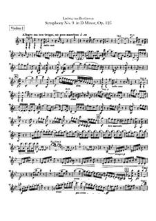 Complete Symphony: Violins I part by Ludwig van Beethoven