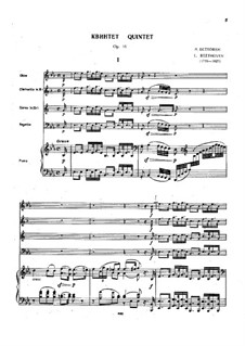 Quintet for Piano and Winds in E Flat Major, Op.16: Full score by Ludwig van Beethoven