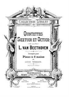 Quintet for Piano and Winds in E Flat Major, Op.16: Version for piano by Ludwig van Beethoven