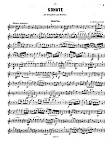 Sonata for French Horn and Piano, Op.17: Version for violin and piano – solo part by Ludwig van Beethoven