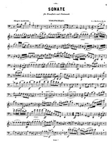 Sonata for French Horn and Piano, Op.17: Version for cello and piano – solo part by Ludwig van Beethoven