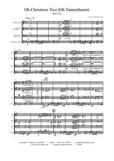 O Christmas Tree (O Tannenbaum): For brass trio by folklore